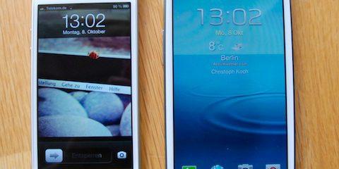 Test iPhone 5 vs Samsung Galaxy S3: Smartphone-Flaggschiffe im Vergleich