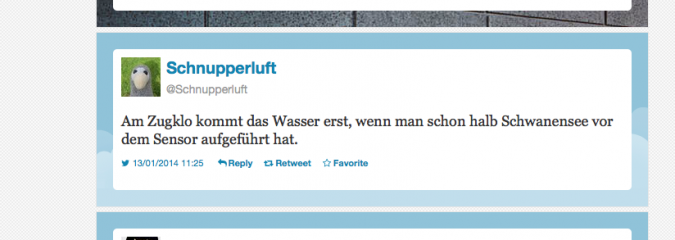 Altbaucharme und der Dartroom im Berghain – Die besten Tweets im Januar 2014