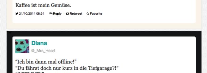 Die besten Tweets im September und Oktober 2014
