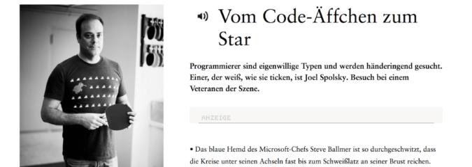 Programmierer: Vom Code-Äffchen zum Star