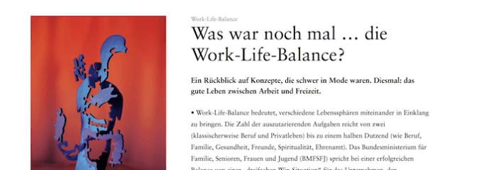 Was war noch mal … die Work-Life-Balance?