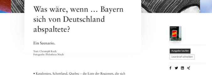 Was wäre, wenn … Bayern sich von Deutschland abspaltete?
